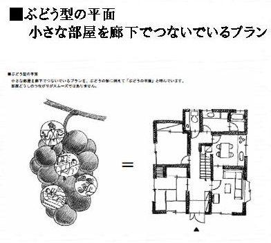 ぶどう型の家